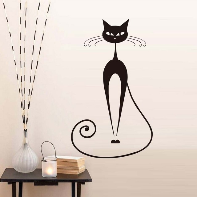 New Design Of Black Cat Wall Sticker