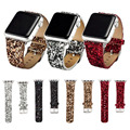 38mm 42mm natal brilhante poder glitter pu couro bling luxo iwatch banda pulseira de relógio de pulso strap belt para apple watch i26.