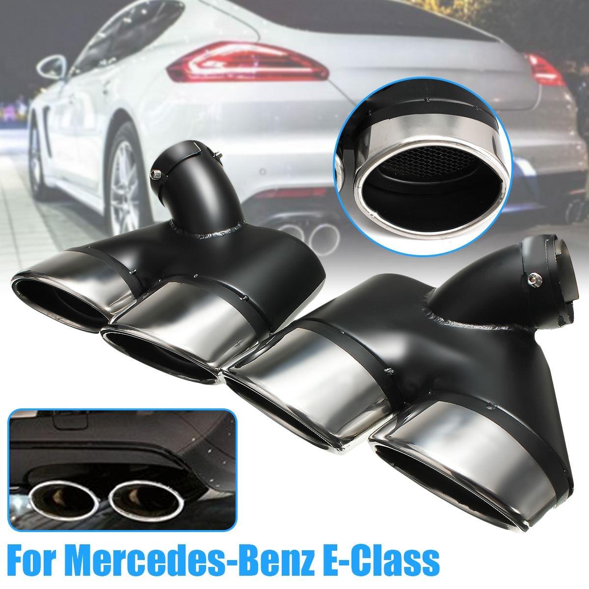 2 pcs Voiture Embout D'échappement En Acier Inoxydable Silencieux Tuyau Pour Mercedes-Benz W211 E-Classe E240 E280 E320 e350 E430 Pour AMG 2002-2007