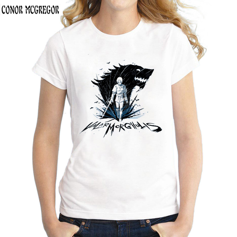 d4672ebff28d game of throne valar morghulis valar dohaeris t shirts women summer new  white casual tee shirt