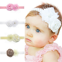 Headband Ribbon Bows Cloth Hair-Accessories Tiara Flower Toddlers Infant Baby-Girl Gift