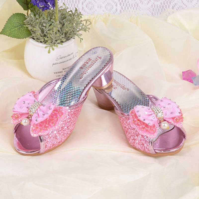 Girls fancy sandals blue pink silver bling bling kids for Girls dress shoes for wedding
