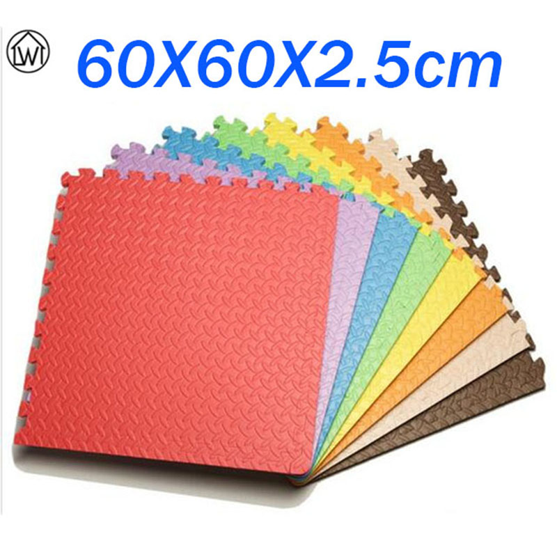 8PCS Big Size 60 60 Baby EVA Floor Mat Pure Color Puzzle Mat Carpet Eco friendly