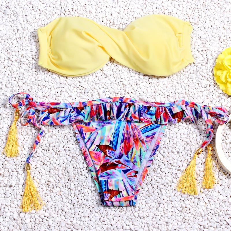 Brazilian Bikini set String Reversible Bathing Suit Halter High Neck Bikinis Women Swimwear Swimsuit Biquinis maillot de bain 1