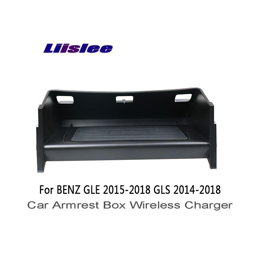 Liislee для Mercedes Benz GLE W166 C292 GLS X166 автомобильный подлокотник коробка Wifi зарядное устройство для хранения автомобиля разное Коробка Беспроводная