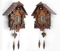 Ретро европейские винтажные часы Cuckoo часы ручной работы деревянные настенные часы