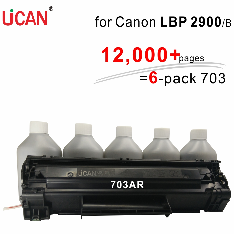 UCAN Cartridge 703 for Canon LBP 2900  2900B Printer 12,000 pages CTSC(kit) equivalent to 6-pack картридж для принтера nv print для canon cartridge 703