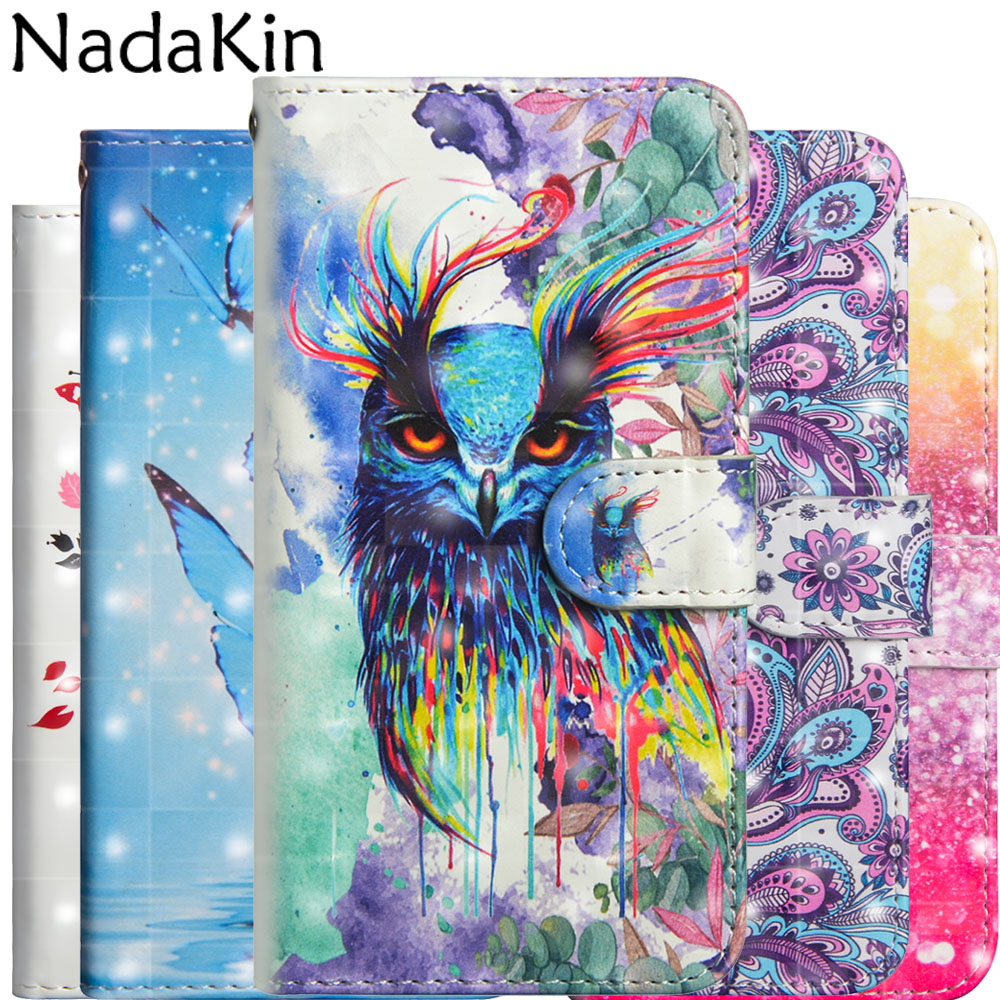 US $3 37 25% OFF|3D Painted Flip Wallet Case for LG Aristo 2 K8 2018 V40  ThinQ X Power 3 Stylish Book Phone Cover Shell Leather Cute Panda Owl-in  Flip