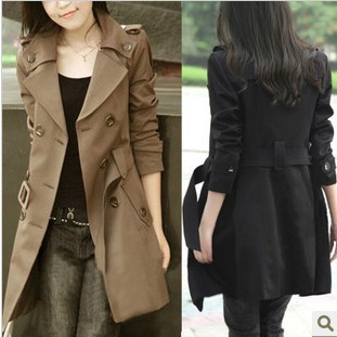 2015 lente windjack voor dames jurk Koreaanse versie van Slim en lange stukken dikker jas vrouwelijke goedkope kleding china