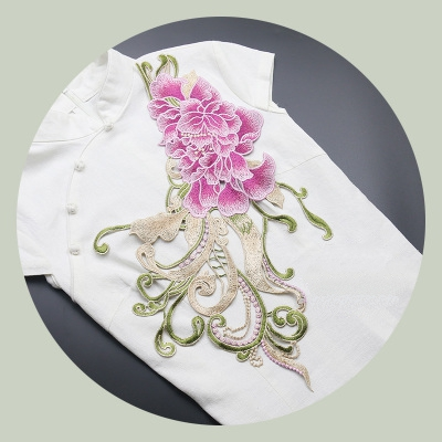 Gentle Original Hand Made For The New Black And White Embroidery Dingzhu Hualing Wild Wild Swan Shirt False Collar 100% Guarantee Women's Accessories