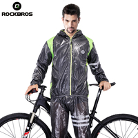 ROCKBROS Mens Breathable Cycling Jersey Waterproof MTB Bike Raincoat Riding Motocross Jersey Anti Sweat Bicycle Clothing