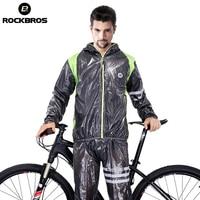 ROCKBROS Mens Breathable Cycling Jersey Waterproof MTB Bike Raincoat Riding Motocross Jersey Anti Sweat Bicycle Clothing