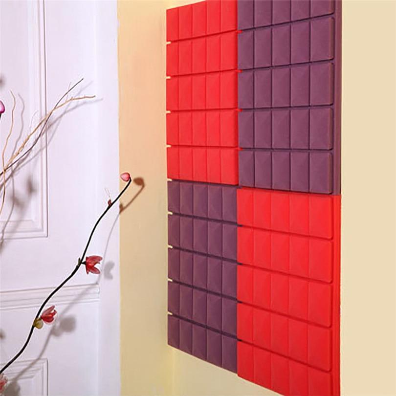 Home decoration wall sticker Acoustic Foam Panel Sound Stop Absorption Sponge Studio KTV Soundproof Wall Art dec19