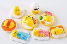 8pcs Anime Lovely Sanrio Gudetama Lazy Egg Mini Plastic Ornaments PVC Cute ACTION Figure Resin Collection Model Toy Gifts Doll