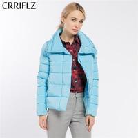 Fashionable Women Coat Jacket Warm Short Wadded Jacket Cotton Woman Parka Coat Female CRRIFLZ 2017 New