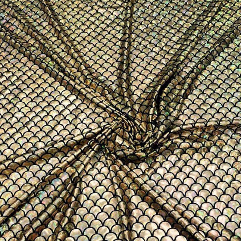 145 см ширина рыбы Весы 4 способа стрейч Лазерная трикотажная ткань для ткани балдахин для детской кроватки Ткань для шитья кукла Тильда 1 ярд