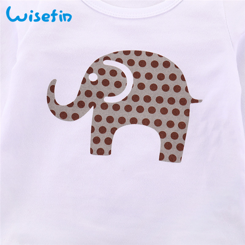 769df4fc3 Wisefin Newborn Infant Baby Girl Clothes Outfits Autumn Long Pants Elephant  Clothes Set T Shirt Long Sleeve Toddler Clothing Set