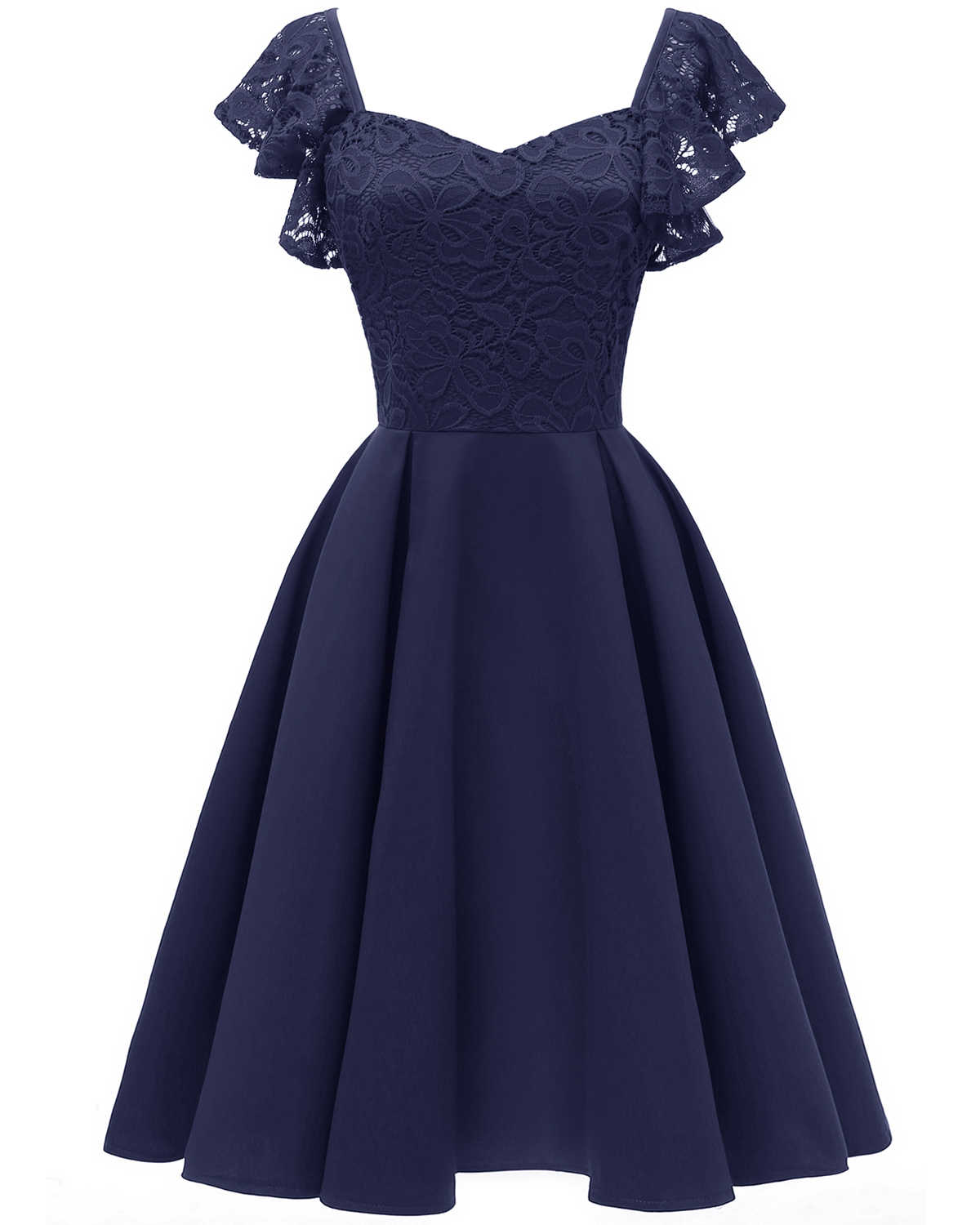 12 Autumn Summer Dress Women Sexy Hollow Out Lace Dress Elegant Casual  Short Sleeve Ball Gown Party Dresses Midi Vestidos