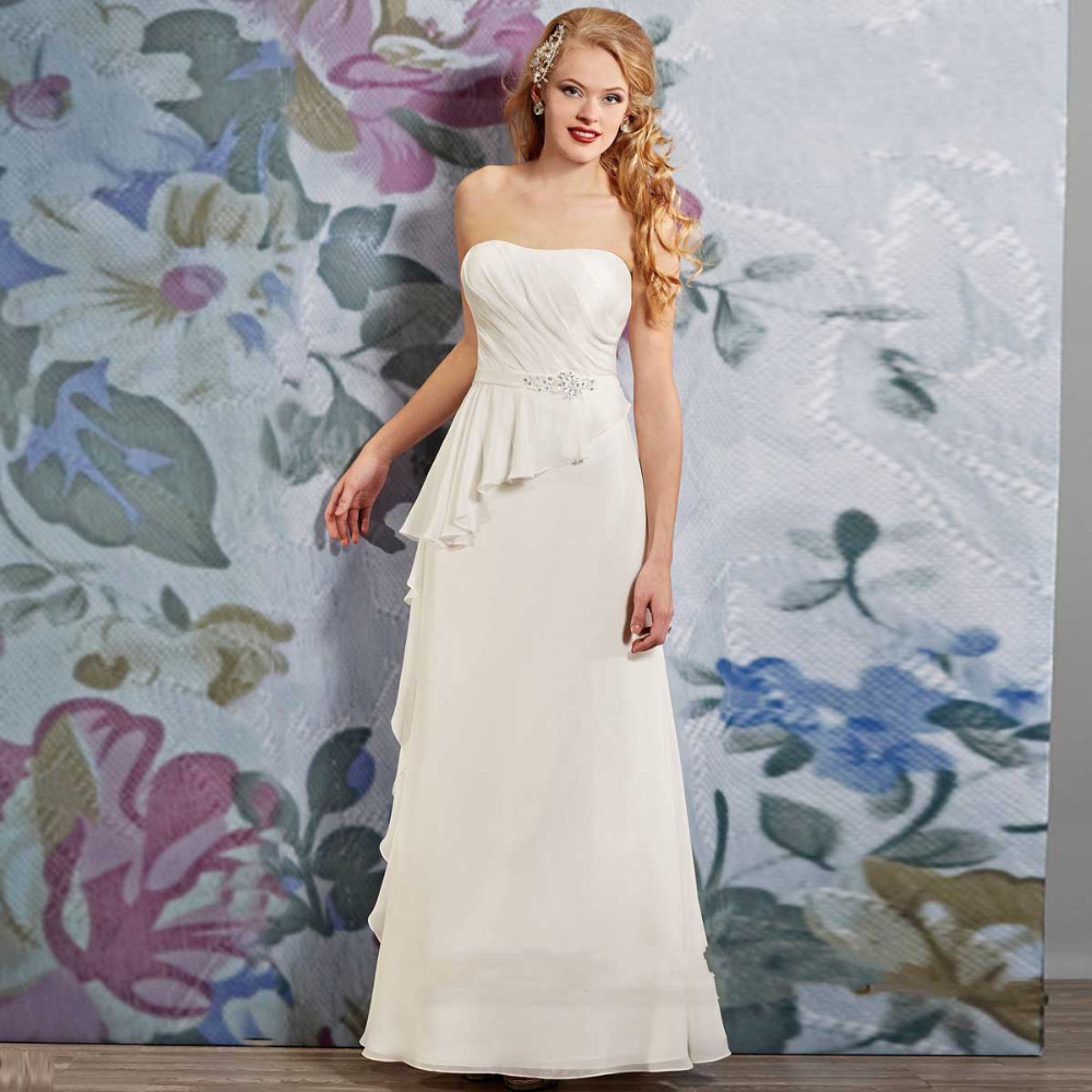 Prices in euros vintage beach wedding dress with sash for Aolisha wedding dress price