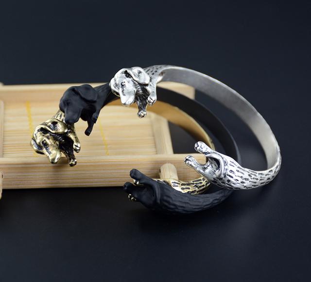Vintage Boho Dachshund Bangle Bracelet