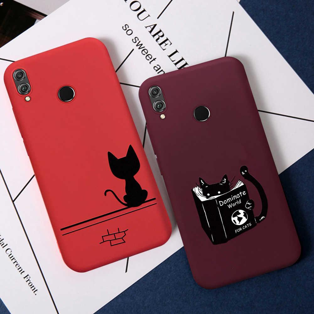 Чехол винно-красного цвета с сердцем для huawei Honor 8X 10i 20i 20 Pro 10 9 Lite P Smart 2019 P30 P20 Pro mate 20 Lite Nova 5 Pro 5i TPU