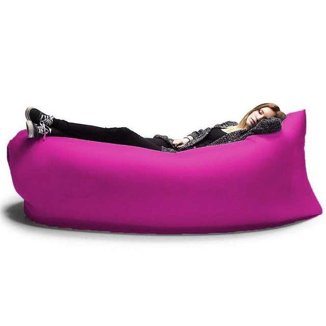 Zitzak Sack It.Hangout Fast Inflatable Chair Lounger Air Sack Sleep Camping Sofa