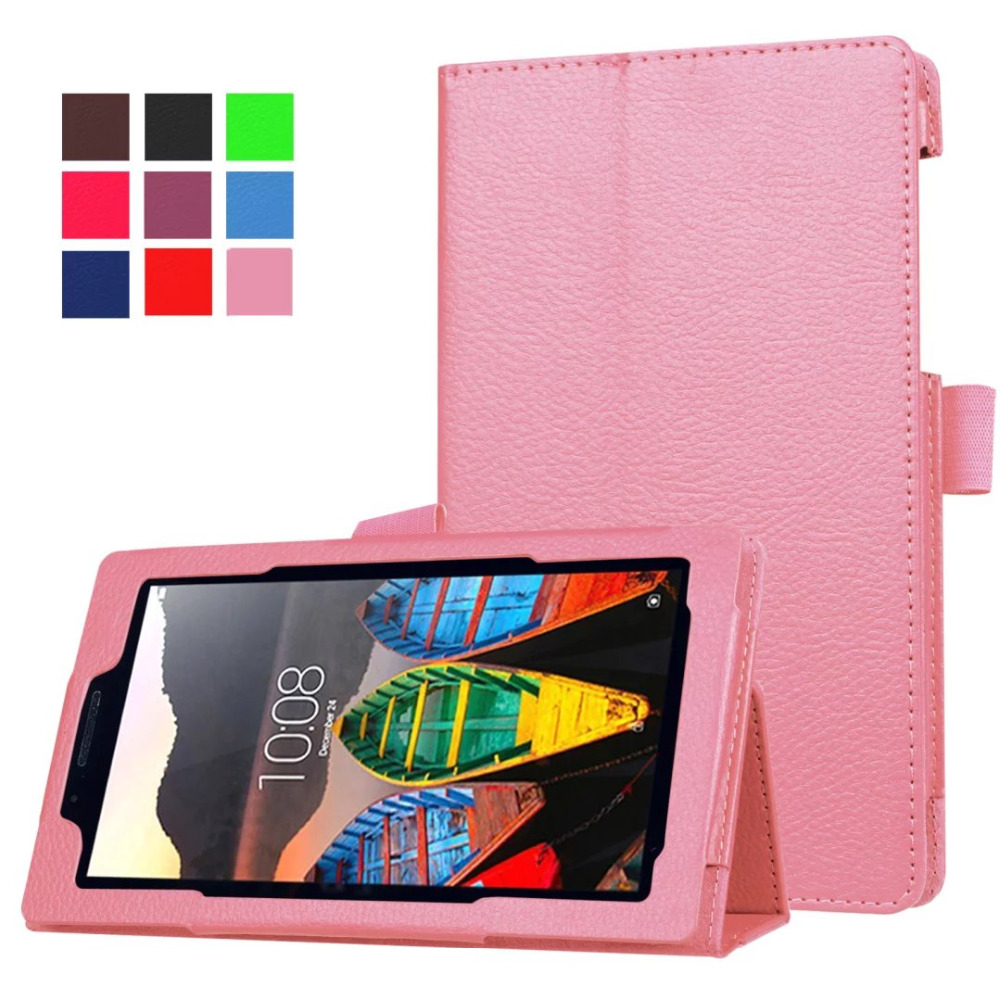 Flip Cover For Lenovo Tab 3 Tab3 Essential 710F 710I Tablet Case Litchi Grain PU Leather Case