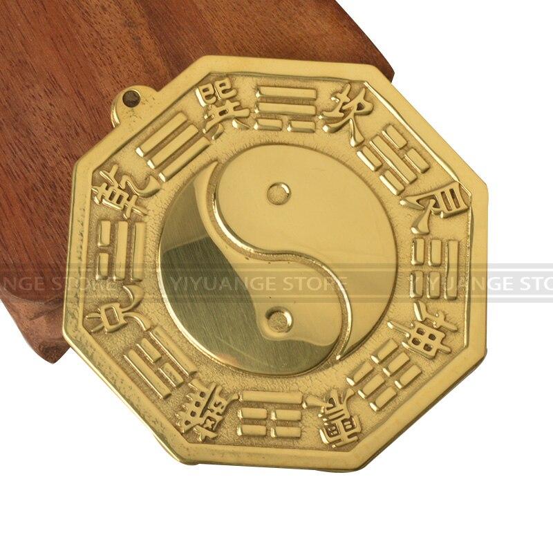 11cm Feng shui chino cóncavo convexo cobre Bagua espejo colgante de pared los 8 Hexagrams espejo decoración del hogar Accesorios 6 unids/lote atrapasoles de cristal Feng Shui prismas colgante péndulo colgante decoración de ventana 20mm