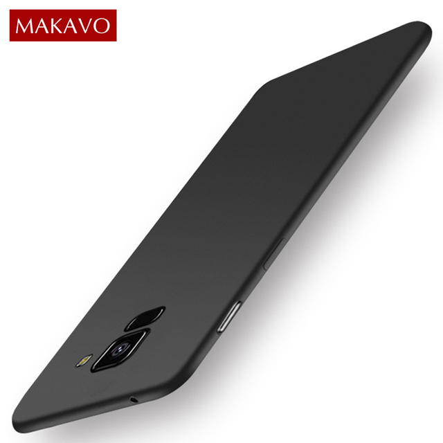 MAKAVO For Samsung Galaxy A8 2018 Case Soft Matte Phone Cover Case For Samsung A8 A6 Plus 2018 J6 J4 J8 J3 J5 J7 2017
