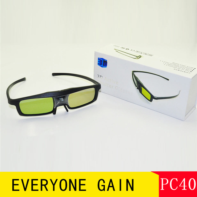 PC40 Make Home Theater Projector is 3D Glasses Manufacturer Price 96-144HZ Shutter Glass For DLP LINK Proyector