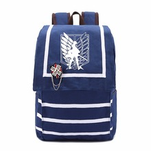 Attack on Titan Cosplay Canvas backpack teenagers Men women's Student School Bags ( 3 types )
