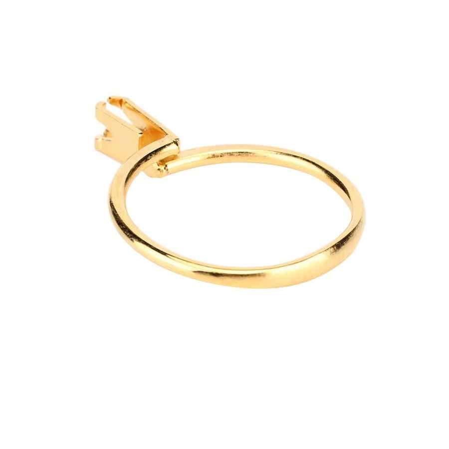 Silver Adjustable Display Ring Gemstone Holder Jewellery Spring Prong Claw Gem