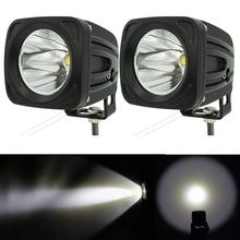 цена на 2pcs 12v 24v extermal light 25w Square LED Work Light 6000K White Spot led work lamp for 4x4 Offroad ATV Truck Driving Light