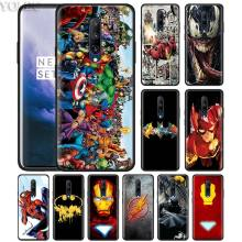 Marvel Avengers Superhero Collage Phone Case for Oneplus 7 7Pro 6 6T Oneplus 7 Pro 6T Black Silicone Soft Case Cover