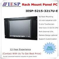 6U rack mount panel pc, Core i5 3317U CPU, 15 inch LCD, 4GB DDR3,500GB HDD, 4*RS232, industrial panel pc