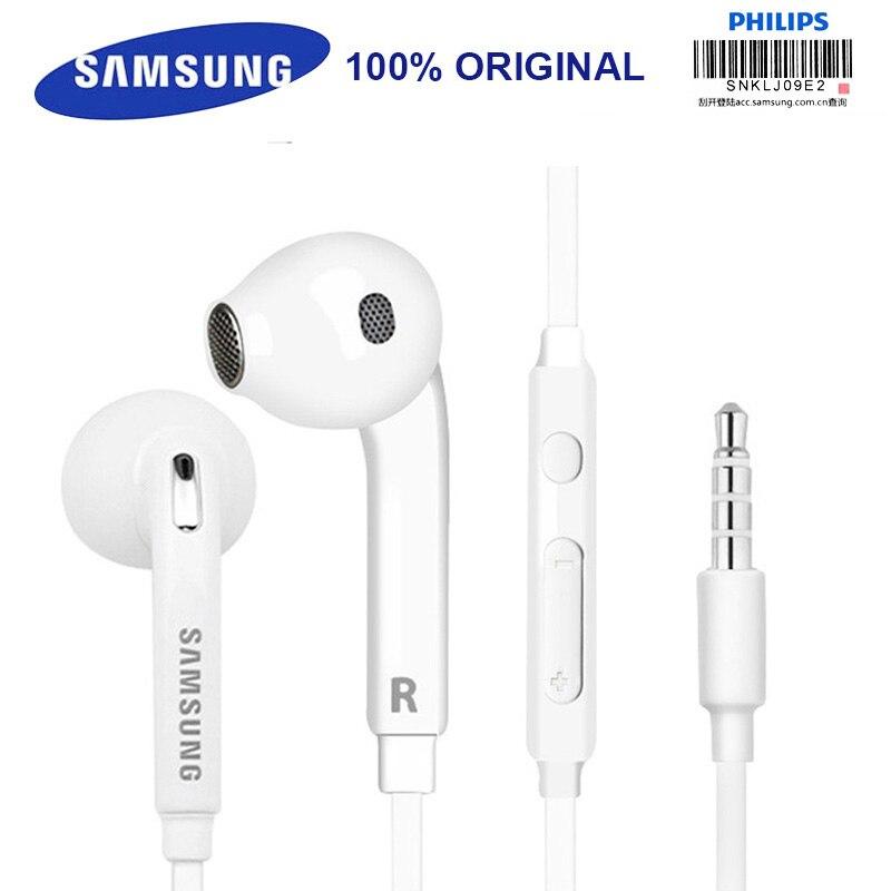 Samsung eo-eg920bw Auriculares con cable de 3.5mm con micrófono 1.2 m estéreo del deporte del EN-oído Auriculares para Samsung S8 s8edge con menor caja