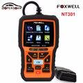 Оригинал FOXWELL NT301 OBD OBDII Автомобилей Code Reader Диагностический Инструмент Мульти-системы Сканер для всех OBD2 Совместимых Автомобилей
