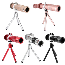 On sale Cellphone Mobile Phone 18X Zoom Phone optical Telescope Telephoto Camera Lens+Aluminum Tripod with Lens Cover