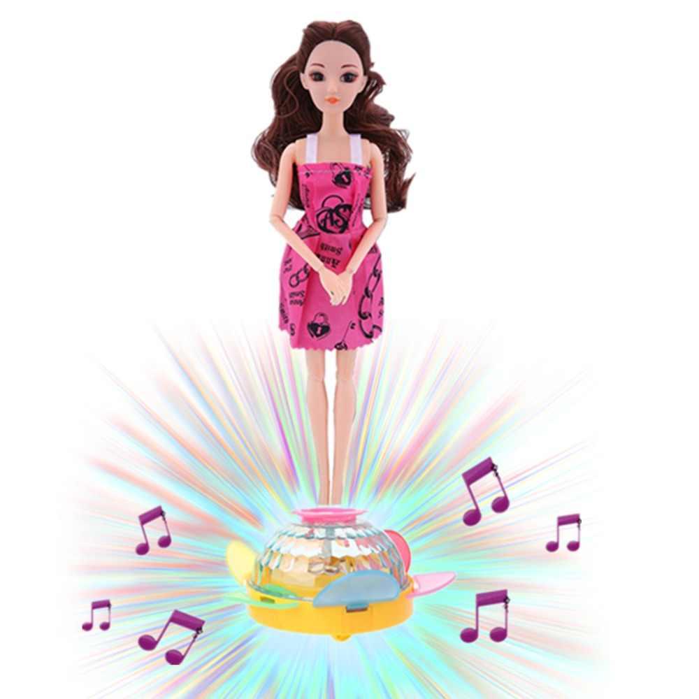 Membuat Boneka Anda Move Dance Listrik Dasar Musik Light Wheel Dolls untuk Blythe Brabie 18in Doll Mainan