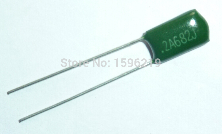 10pcs Mylar Film Capacitor 100V 2A682J 6800pF 6.8nF 2A682 5% Polyester Film Capacitor