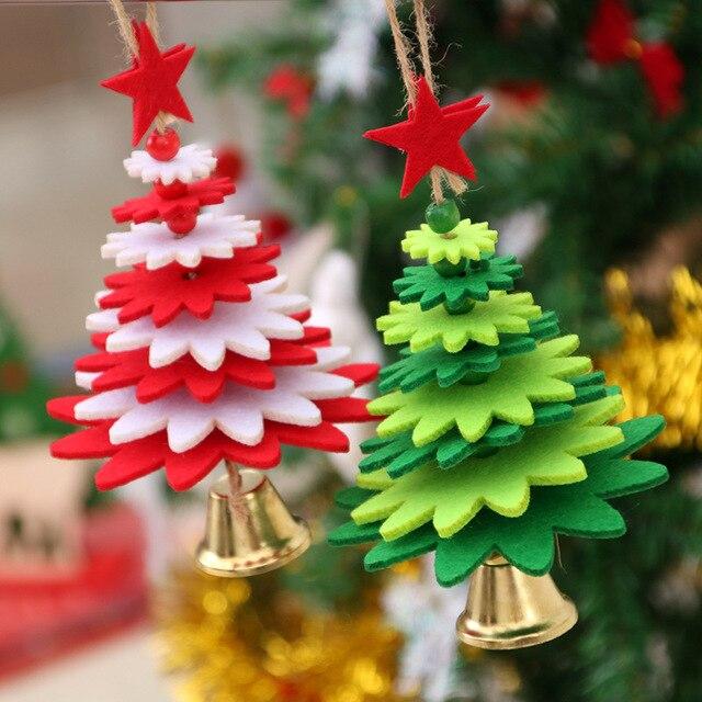Christmas Creative Lint Bell Hanging Ornaments Metal Decorative