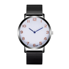Amecor Fashion Man Woman Crystal Stainless Steel Leather Round Analog Quartz Wrist font b Watch b