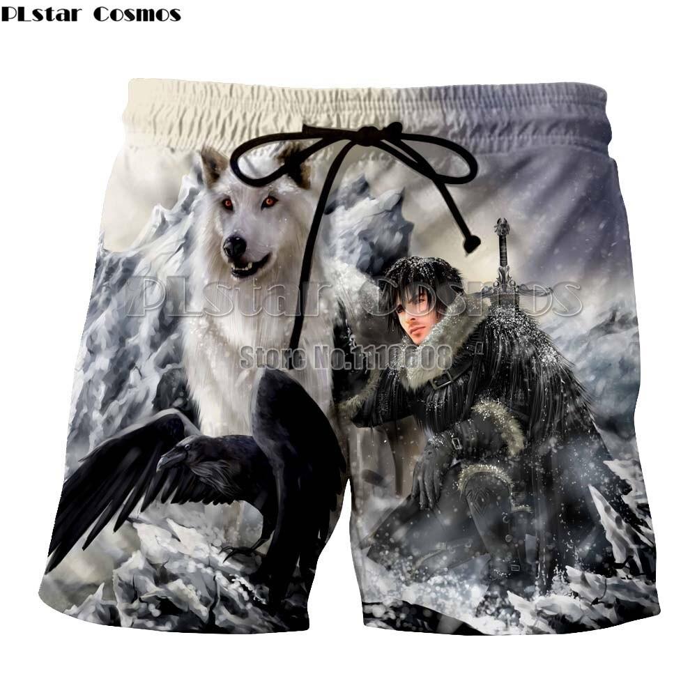 Plstar Cosmos Newest Fashion Casual Shorts  Game Of Thrones Men Women Short 3d Print Shorts Men Women Summer