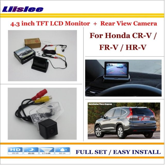 H R Auto >> Us 41 27 20 Off Liislee Untuk Honda Cr V Fr V Hr V Auto Rear View Camera Back Up 4 3 Lcd Monitor 2 In 1 Sistem Parkir Bantuan Di Mobil Monitor