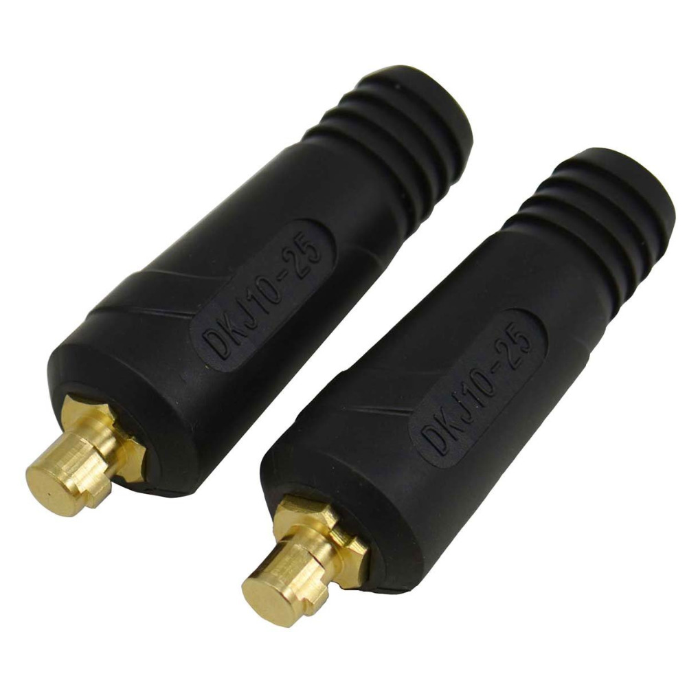2Pcs Quick Fitting Cable Connector-Plug 200Amp DKJ10-25 Welding Machine
