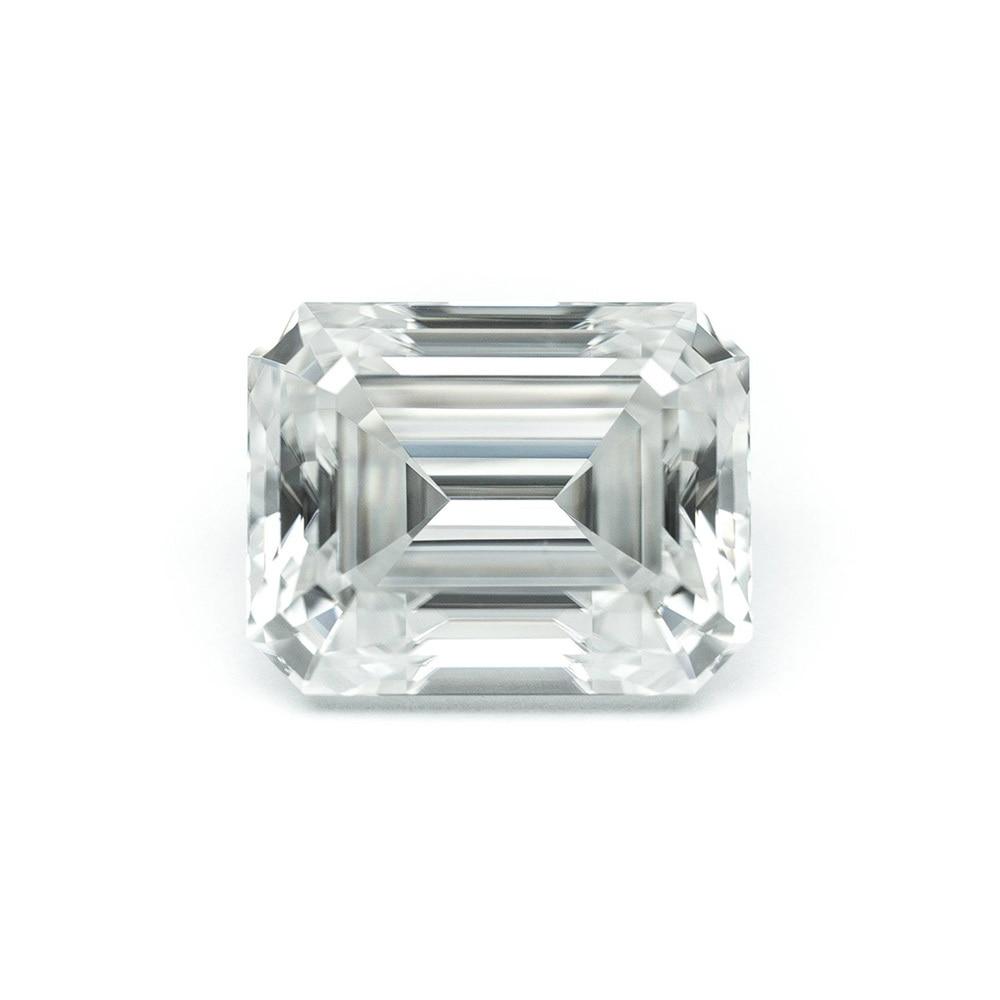 Émeraude Baguette Cut Brillant 5 pcs 2x4mm DF Couleur Moissanite Lâche Pierre VVS Excellente Coupe Test de Qualité Positive Lab Diamant