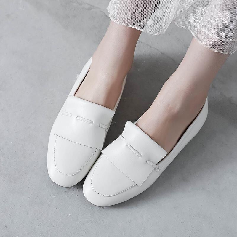 De Mujer Cuero Nueva Pisos Primavera Y Allbitefo Zapatos Beige Mujeres Planos Las negro Genuino Oficina Ballet 2018 Ocasionales marrón Cómodos qpR7nnwt