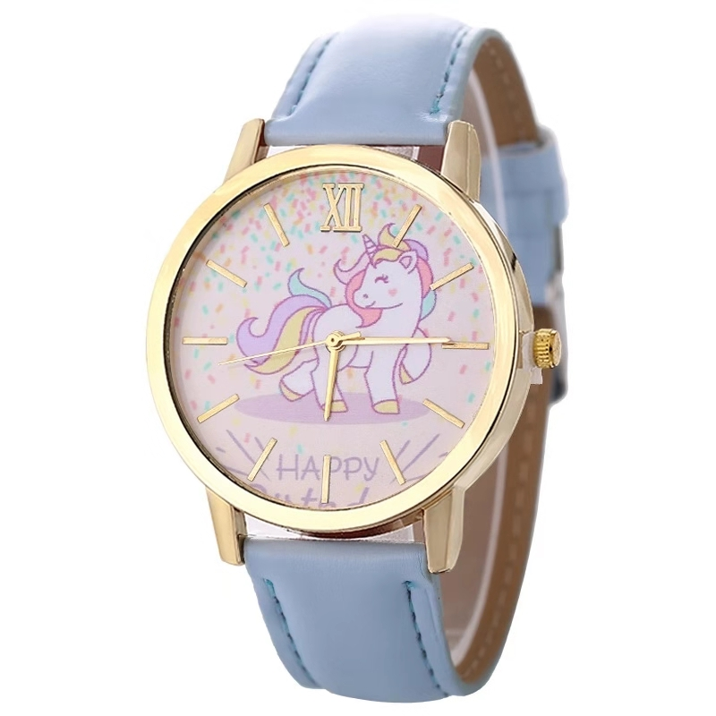 Fashion Hot Sale Men's And Women's Children's Watches Unicorn Leather With Quartz Watches
