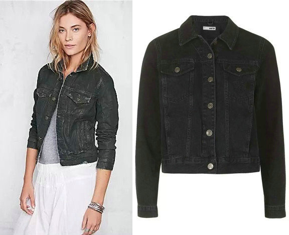 Black Denim Jacket For Women xoQslw