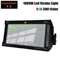 Gigertop 1000 светодио дный Вт Cree светодиодный стробоскоп для dj дисковечерние тека вспышка света для сценического Клуба Свет RGB цвет смешивание Б